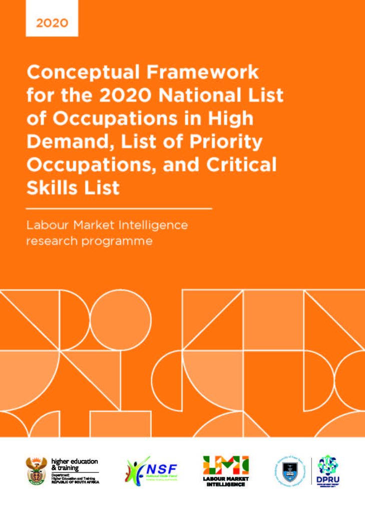 Conceptual Framework for the 2020 National List of Occupations in High Demand, List of Priority Occupations, and Critical Skills List